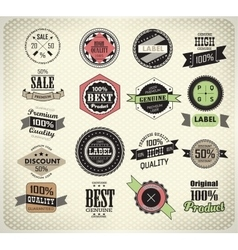 Collection of Premium Quality Labels vector image vector image