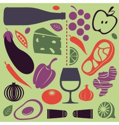 Delicious cooking set vector image