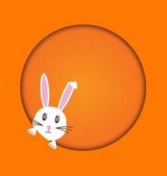easter rabbit easter bunny vector image