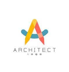 Letter A architect logo vector image vector image
