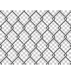 Steel mesh metal fence seamless transparent vector image vector image