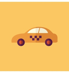 Taxi Transportation Flat Icon vector image vector image