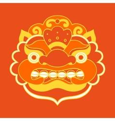 Traditional balinese mask Barong vector image