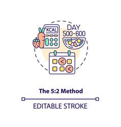5-2 method concept icon vector