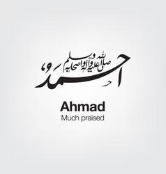 Ahmed vector