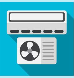 Air conditioner flat icon vector