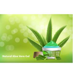 Aloe vera gel advertising poster template vector