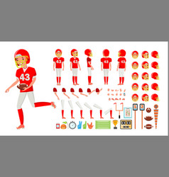 american football player male animated vector image
