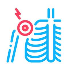 Arthritis shoulder joint icon outline vector