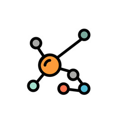 atom biochemistry biology dna genetic flat color vector image