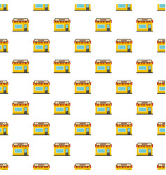 bakery shop pattern seamless vector image