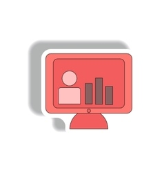 Bar graph and online report in vector