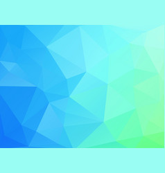 blue green geometric background with triangles vector image