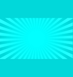 Bright cyan rays background vector