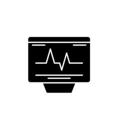cardiovascular check black icon sign on vector image
