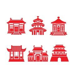 Chinese New Year Icon Paper Cut vector