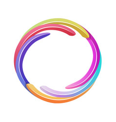 Color game avatar round bright frame template vector