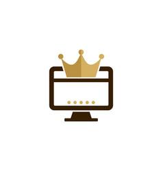 Computer king logo icon design vector