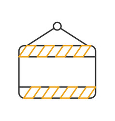 Construction banner hanging icon vector