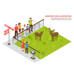 Deers in zoo composition vector