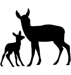 Deers set vector