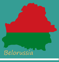 Detailed map of belarus with national flag vector