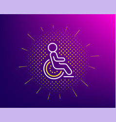 Disability line icon disabled person sign hotel vector