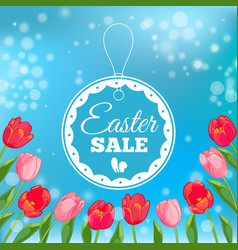Easter sale card vector