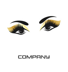 eyes and eyelashes logo vector image