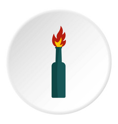 Fire bottle icon circle vector