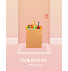 food delivery to your door flat design modern vector image