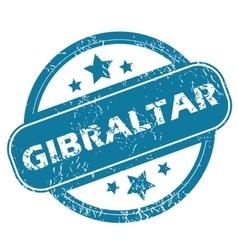 Gibraltar round stamp vector