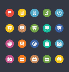 Glyphs colored icons 18 vector