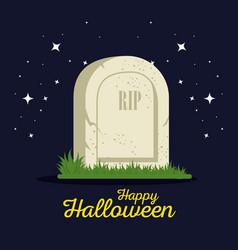 Gravestone halloween cartoon vector