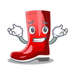 Grinning single of boots isolated on mascot vector