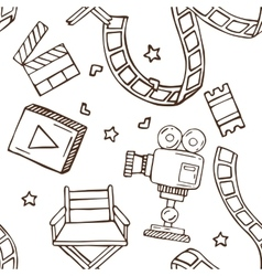Hand drawn cinema pattern excellent vector