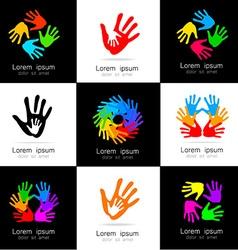 Hand logo vector