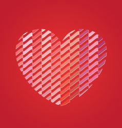 Heart with Pattern vector image
