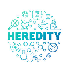 Heredity round colorful symbol thin line vector