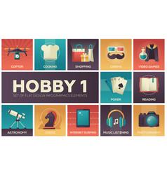 Hob- set flat design infographics elements vector