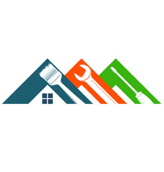 Home repair and service with tool symbol vector