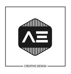 Initial letter ae logo template design vector