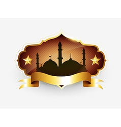 Islamic golden label vector