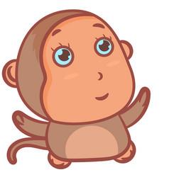Little brown monkey character vector
