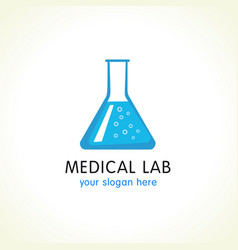 medical lab logo vector image