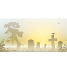 Misty Cemetery vector image
