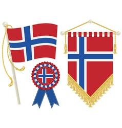 Norway flags vector