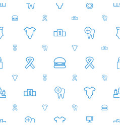 One icons pattern seamless white background vector