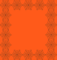 orange background framed with the spiderweb vector image