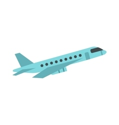 Passenger airliner icon flat style vector image